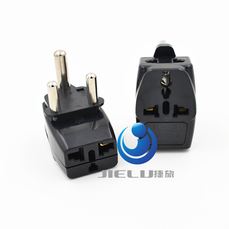 2016 Type M Large 15 amp BS 546, 2 Port Multi Outlet Black Color 1 TO 3 EU AU USA PLUG 16A South Africa Travel Adapter(China (Mainland))