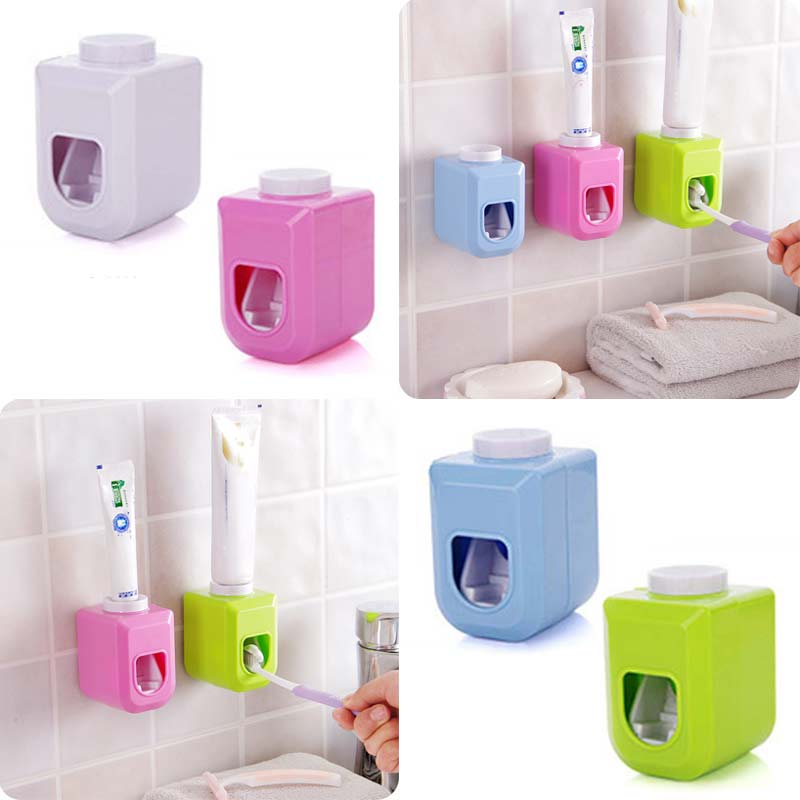 Bath Wall Mount Touch Automatic Auto Squeezer Toothpaste Dispenser Hands Free Squeeze Out LS(China (Mainland))