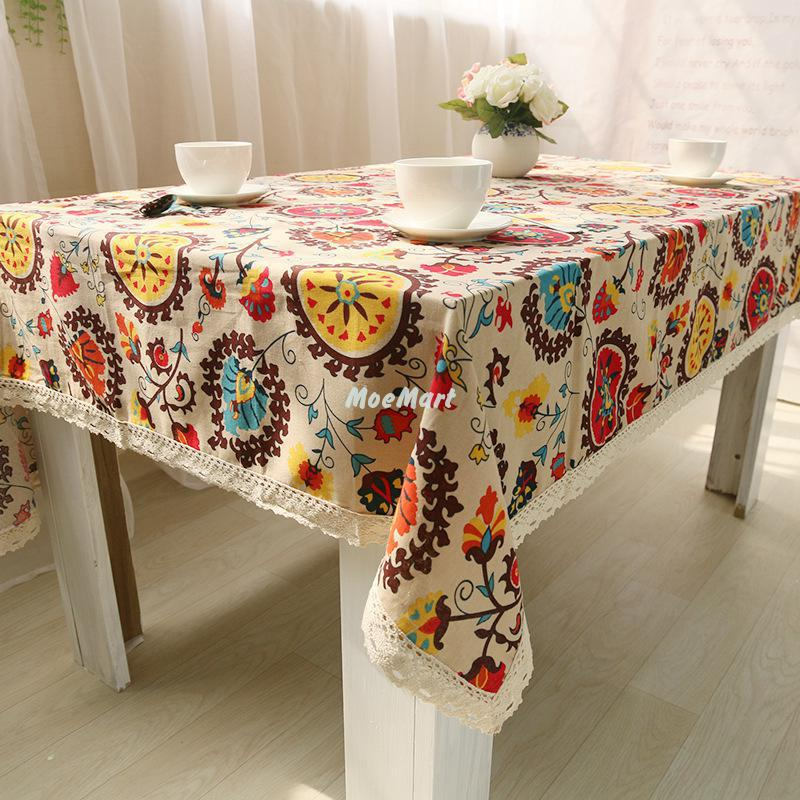 Ethnic Style Linen Tablecloths National Simmias Storm Linen Table Cloth Cover Home Decorative Restaurant Decoration Towels Cloth(China (Mainland))