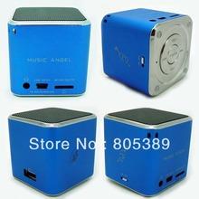 Music angel 90pcs/lot Multi-media Mini Portable USB speaker for tablet pc phone TF card U disk FM radio MD07U(China (Mainland))