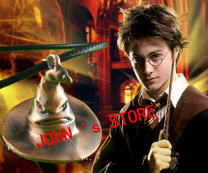 Free shipping Harry Potter Inspired Hogwarts Sorting Hat pendant Necklace/Movie jewelry gift jewelry HR0731<br><br>Aliexpress