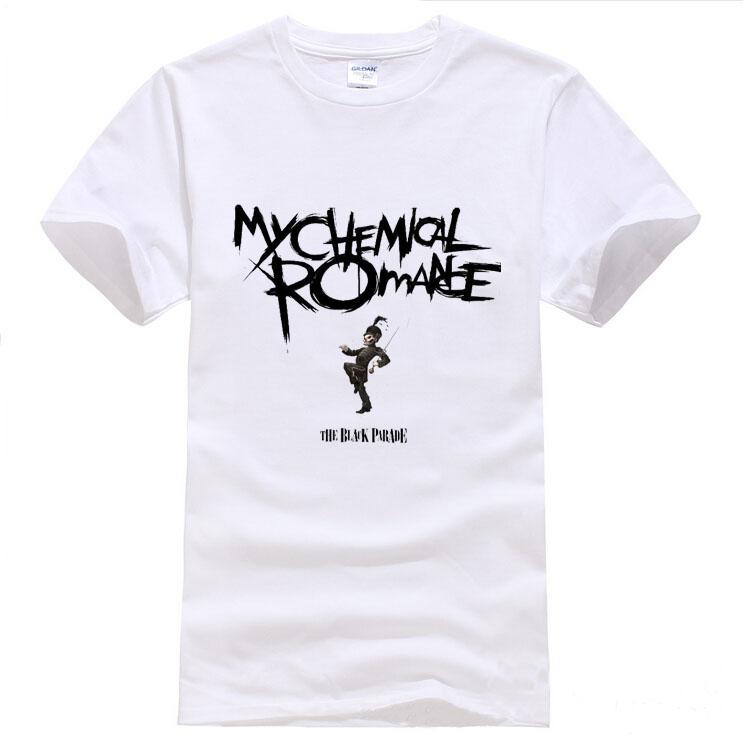 My chemical romance T-shirt Men 100% Cotton Loose Short Sleeve T Shirt Fashion Man's Short Sleeve 2015 LOGO Tops Tee shirt(China (Mainland))