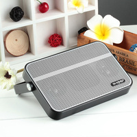 Brand New Portable Ultra Slim NFC Silver Wireless Bluetooth Speaker For Smartphone/PC/MP3/MP4/Car Outside