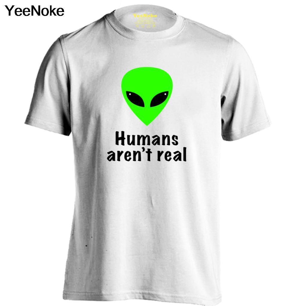 Shirts human design - Alien Human Aren T Real Mens Womens Cotton Cartoon T Shirt Design T Shirt