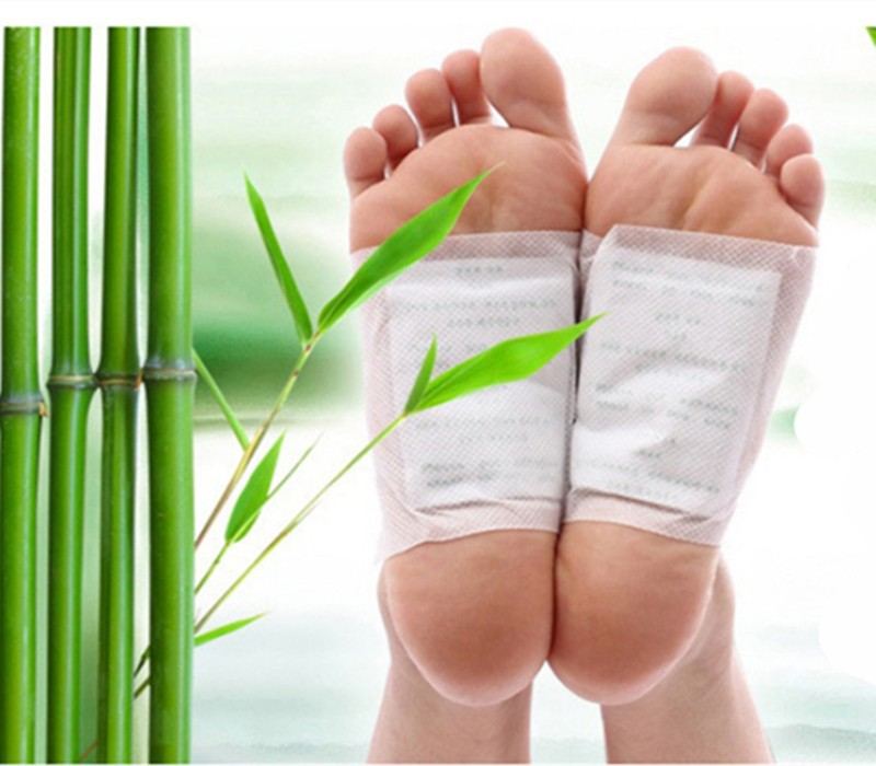 Detox Foot feet Patch Bamboo Pads Patches With Adhesive Beauty botanical Slimming diet products 10pcs Patches+10pcs Adhesive(China (Mainland))