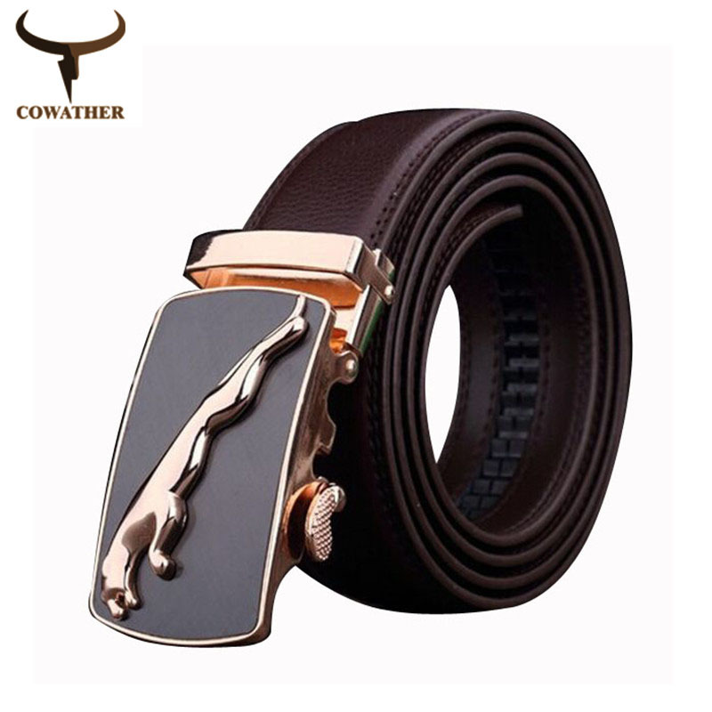 2015Men cow genuine leather belts for men brown and black color high quality Automatic cinto masculino Extra large free shipping(China (Mainland))