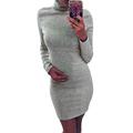 2016 Hot Sale Black and Grey High Neck Autumn Winter Warm Long Sleeve Batwing Sleeve Turtleneck