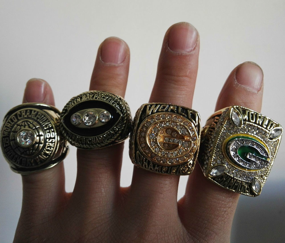 Facyory Direct Sale Free Shipping 4 Years For 1966 1967 1996 2010 Green Bay Packers Super Bowl Championship Rings(China (Mainland))