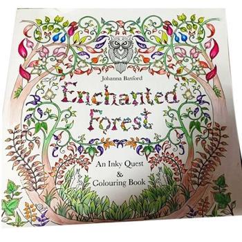 100 страниц в Inky охота за сокровищами и книжка-раскраска для детей взрослых снятие стресса живопись рисунок книга секретный сад AY678587