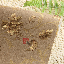 Chinese Style Floral Wallpaper Modern Embossed Gold Wallpaper Papel De Parede Wallpaper Roll Tapete Wall Paper Vinyl Wallpaper(China (Mainland))