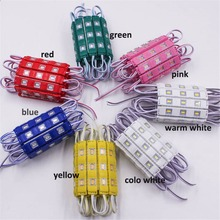 waterproof 5730 3LEDs Injection molding LED Module super bright led modules lighting red/green/blue/Yellow/Pink/Warm 20pcs 12V(China (Mainland))