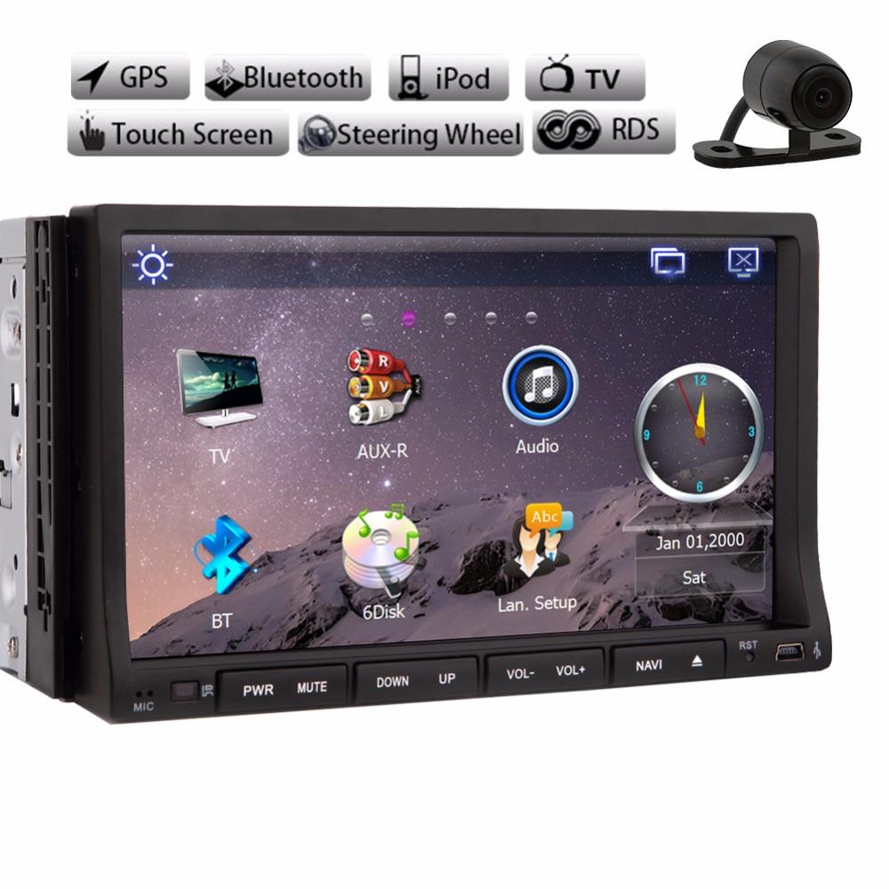 Auto Radio Monitor Car Radio Double 2din 7inch Car DVD Player GPS Navigation USB In dash Car PC Stereo Head Unit Video+Analog TV(China (Mainland))