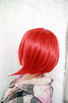 [Vocaloid]d Akaito 12 Inches Short Red Cosplay Wig