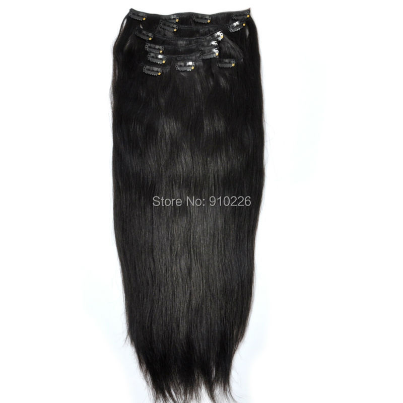 Remy Human Hair Clip In Extensions 160g 13