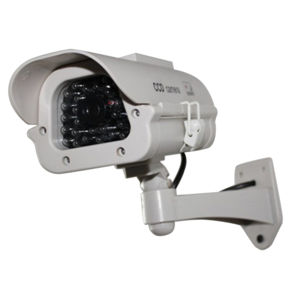 Fake Dummy Solar Camera Indoor Outdoor Powered Security Waterproof CCTV Camera Red Blinking LED(China (Mainland))