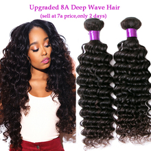 Peruvian Deep Wave Virgin Hair 8A Unprocessed Peruvian Virgin Hair 4 Bundles Real Human Hair Extensions 100% No Synthetic Hair(China (Mainland))