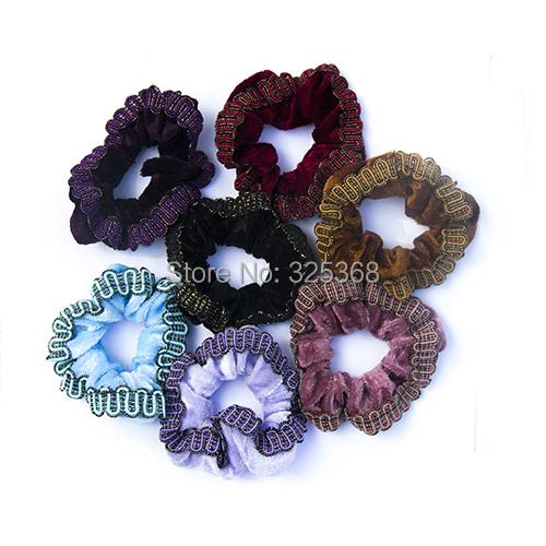 6PCS Soft Velvet Hair Scrunchies elastic Spring Hair Bands Ponytail Holder Wholesale Valentine's Gift(China (Mainland))