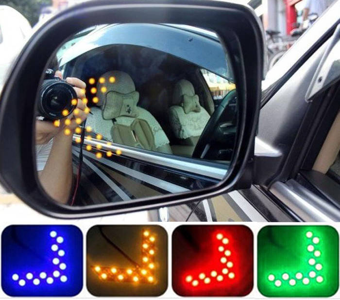 Free shipping Car styling 14 SMD LED Arrow Panel For Car Rear View Mirror Indicator Turn