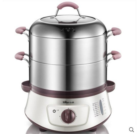 Free shipping Domestic stainless steel double layer large capacity Electric Food Steamers(China (Mainland))