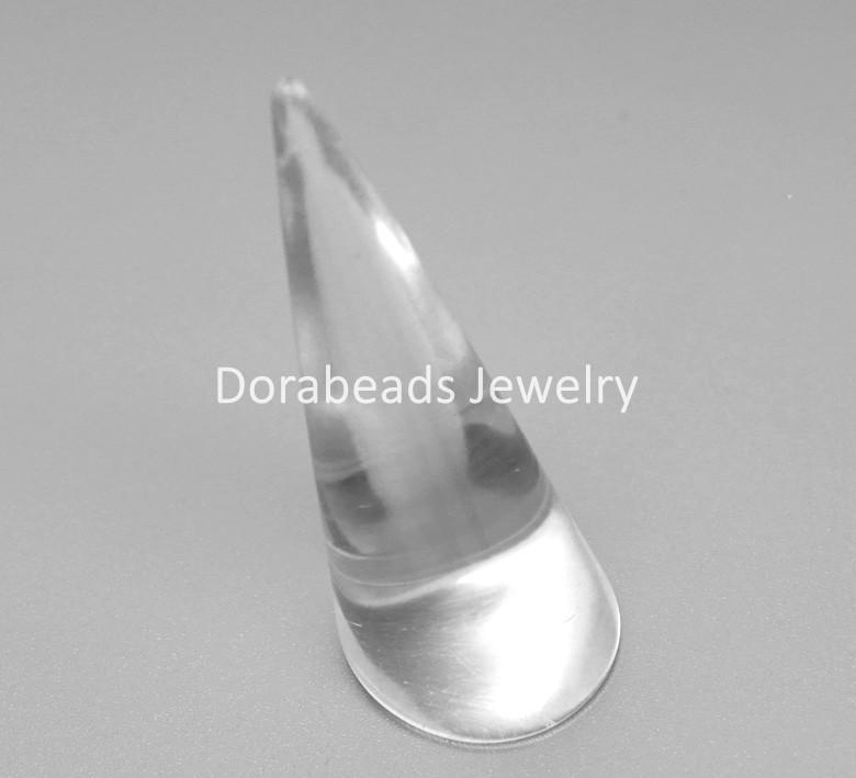 "3PCs Clear Ring Jewelry Display Stands 7cm x 2.6cm(2 6/8"" x1"") (B18962), yiwu(China (Mainland))"