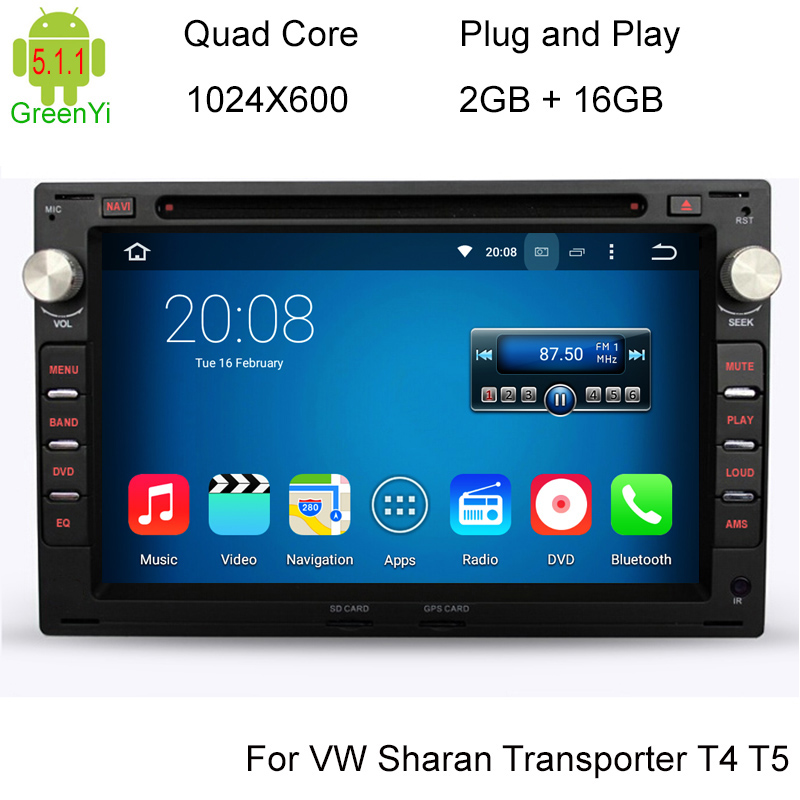 HD1024*600 Screen 2GB 16GB Quad Core Android 5.1.1 Car DVD GPS Radio For VW Passat Golf Polo Jetta Skoda Peugeot 307 1996-2008(China (Mainland))