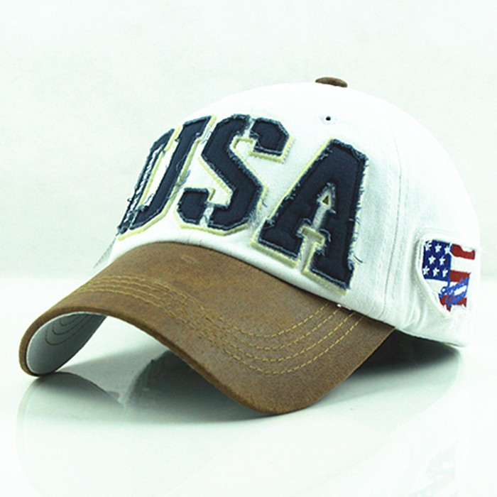 2015 осень высокое качество бренд америка hot бейсболка крышки snapback письмо сша хлопок casquette кости gorras шляпу для мужчин
