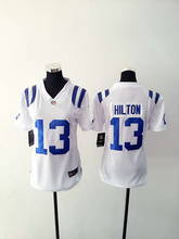 A+++ all stitched Women Lady Indianapolis Colts ,#12 Andrew Luck,T.Y. Hilton,Andre Johnson,Pat McAfee,Coby Fleener,Frank Gore(China (Mainland))