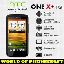 Original HTC ONE X Plus one x+ S728e Quad Core Phone 1.7GHz 4.7 Inch Gorilla Glass SLCD2 Screen 1G RAM 64G ROM 2100mAh