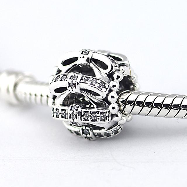925 серебряные ювелирные изделия бусины мерцающий нравственных чувств шарм с камнями Fit пандора браслет DIY мода ювелирных изделий серебро 925