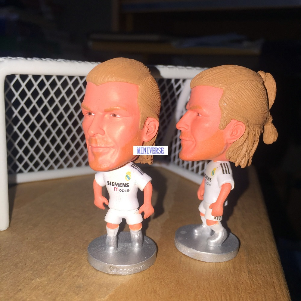 MINIVERSE Soccerwe Football Star Dolls Classic Series Resin 2.55 Inches 23 Beckham Figure White kit(China (Mainland))