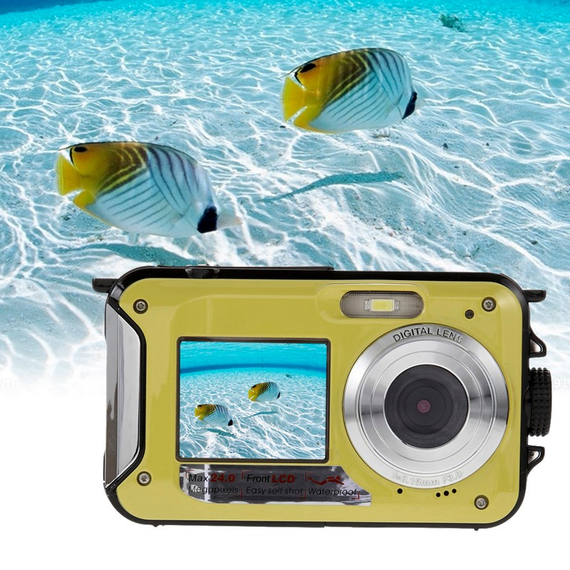 New Digital Camera Duble Screen HD 24MP Waterproof Digital Video Cam 1080P DV 16X Zoom US/EU/AU/UK Plug(China (Mainland))
