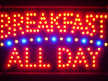 led139-r Breakfast All Day Led Neon Sign WhiteBoard(China (Mainland))