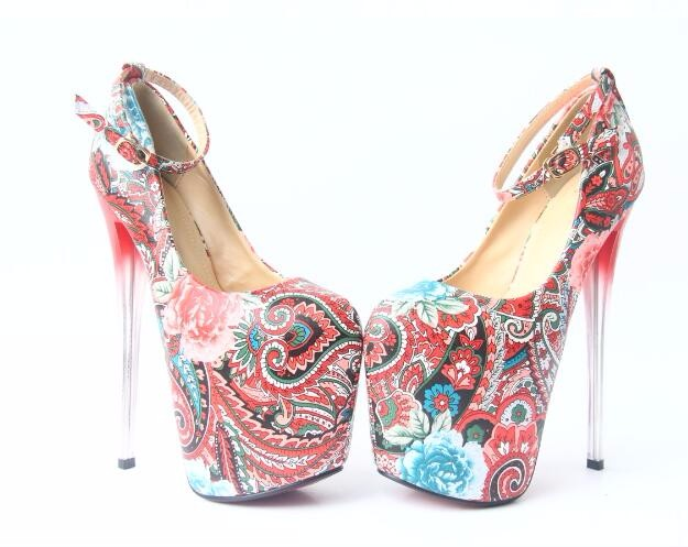 Women Summer Casual Leather Flowers Buckle Sandals Fashion Traditional National Style Super High Heels Shoes 20161206