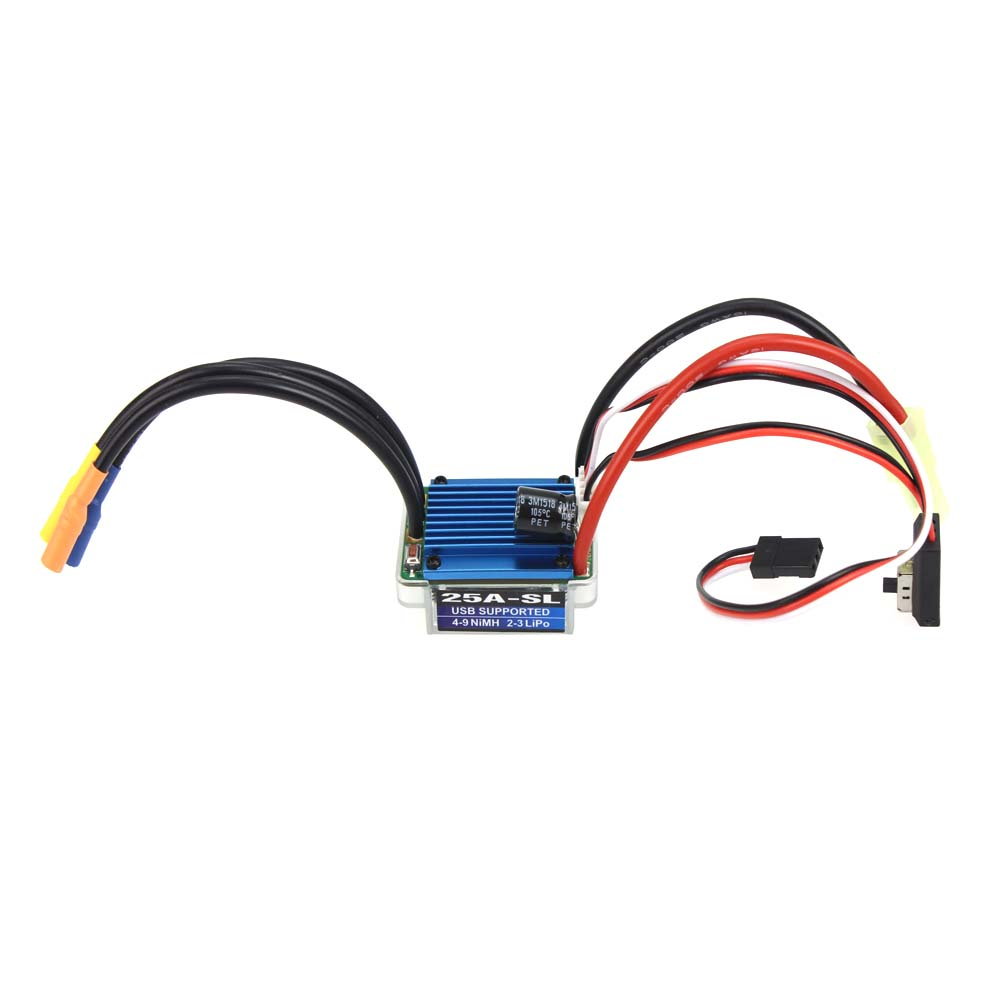 F17806 Hobbywing EZRUN 25A-L 2-3S Lipo BEC Output Speed Cotroller Brushless ESC 2.0 for 1/16 1/18 RC Car(China (Mainland))