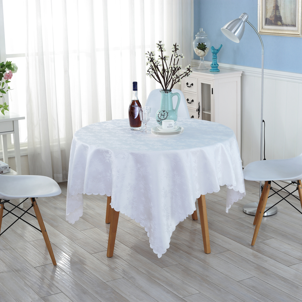 Pure White Tablecloths Family Dining Cleaning Supplies Environmentally Friendly Table Cloth High Quality Party Table Cloth ZH-31(China (Mainland))