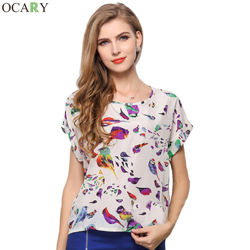 Women'S Tropical Tops And Blouses 37