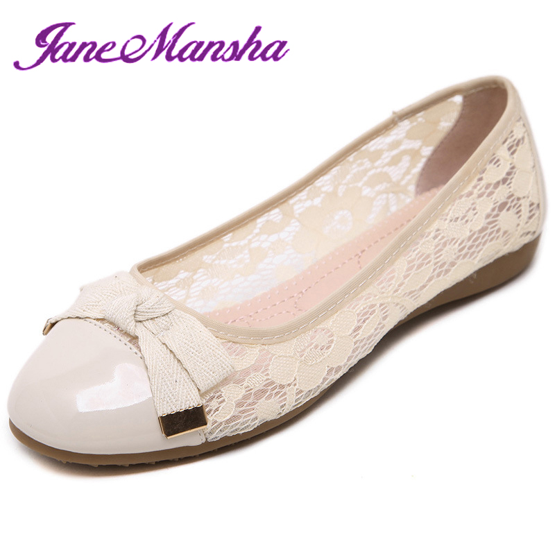 Ballet Flats Ballerina ELEGANT Bowtie Lace Flowers Fretwork Round Toe Slip On Soft Leather Flat Shoes Women Ladies Shoes PWFS103(China (Mainland))