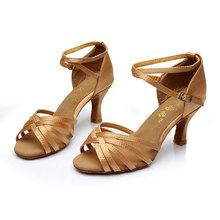 Buy New Women Adults Ballroom Party Latin Dance Shoes Heeled 5cm/7cm Tango Salsa Shoes Indoor Dancing Heels for $13.69 in AliExpress store