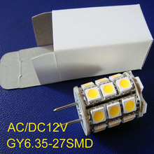 High quality AC/DC12V GY6.35 LED bulb,led G6.35 12v,led gy6 lamp 12v free shipping 2pcs/lot