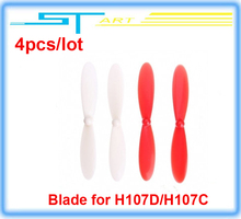 4pcs/lot blade for Hubsan X4 H107D H107C FPV RC Quadcopter camera LCD Transmitter drone Live Video Audio Helicopter