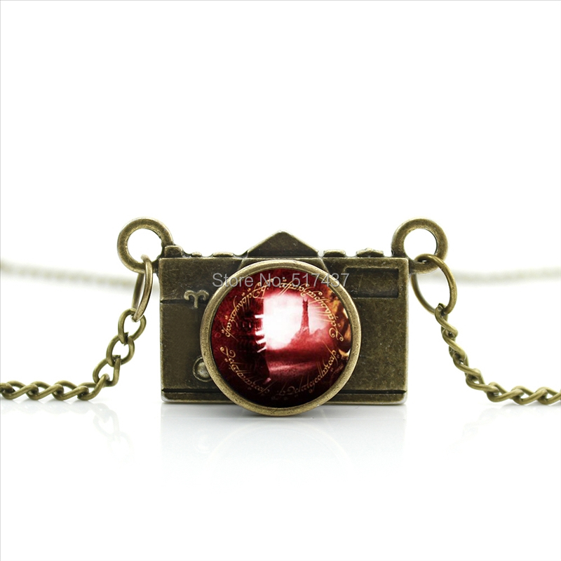 New Arrived DIY Lord Sauron Camera Necklace Red Tower Camera Jewelry Antique Camera Necklace CA--0391(China (Mainland))