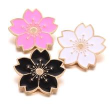 6 sztuk/partia nowy duży 18mm kwiat zatrzaski z Rhinestone okrągły stop metalowe zatrzaski przyciski biżuteria Fit Snap przycisk bransoletka(China)