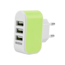 Triple Puerto USB de Pared Travel CA Adaptador de Cargador 3.1A Enchufe de LA UE