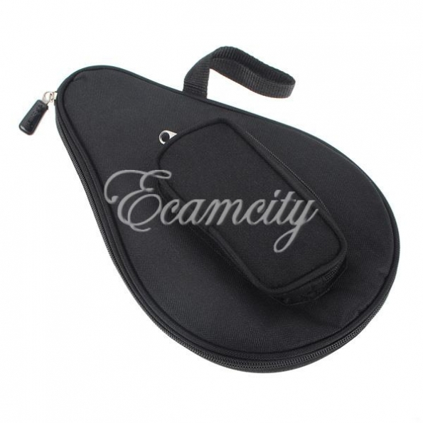 Wholesale New Black Nylon Waterproof Table Tennis Racket Bag Ping Pong Paddle Case with Ball Pouch Sport Free Shipping(China (Mainland))