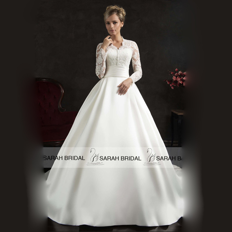 White satin wedding dresses high cut wedding dresses for High collared wedding dress