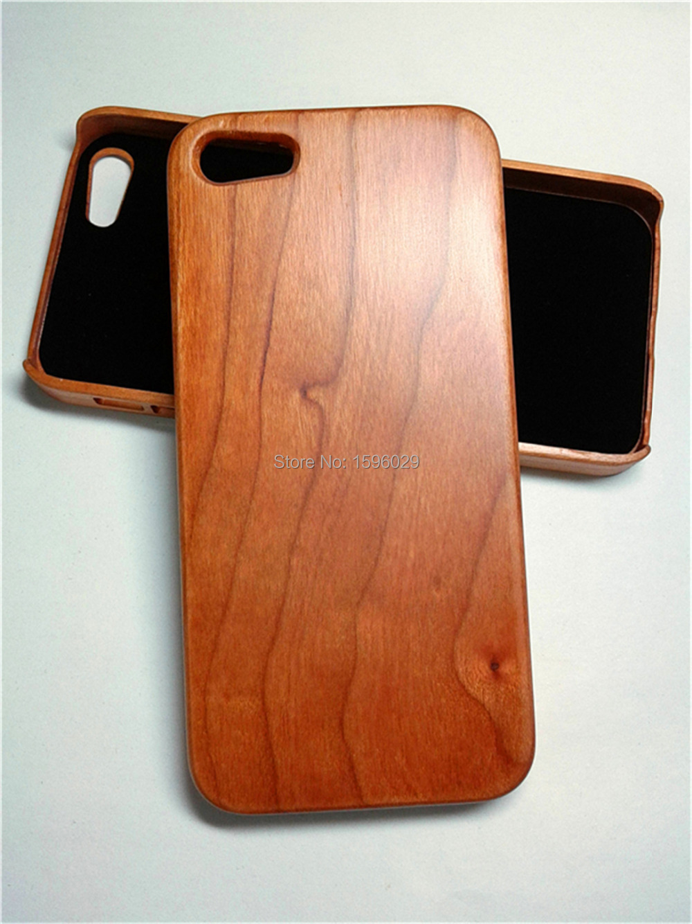 Big Sale100% Original Natural Cherry Wood Case for Apple iphone 5 5S 5G Cheap Ultra Thin Wooden Style Skin(China (Mainland))