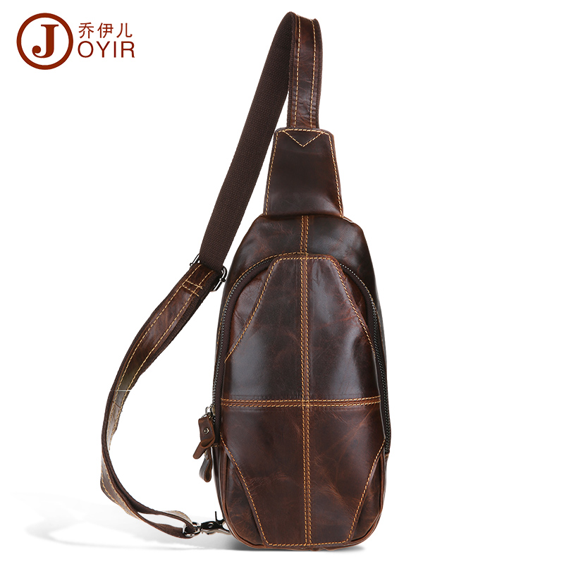 New vintage chest packs bag men genuine cowhide leather chest bag pillow shaped leather small bags for male sport packs belt bag(China (Mainland))