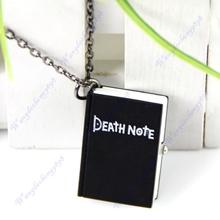 Vintage Unique Bronze Quartz Open Death Note Pendant Necklace Pocket Watch Gift(China (Mainland))