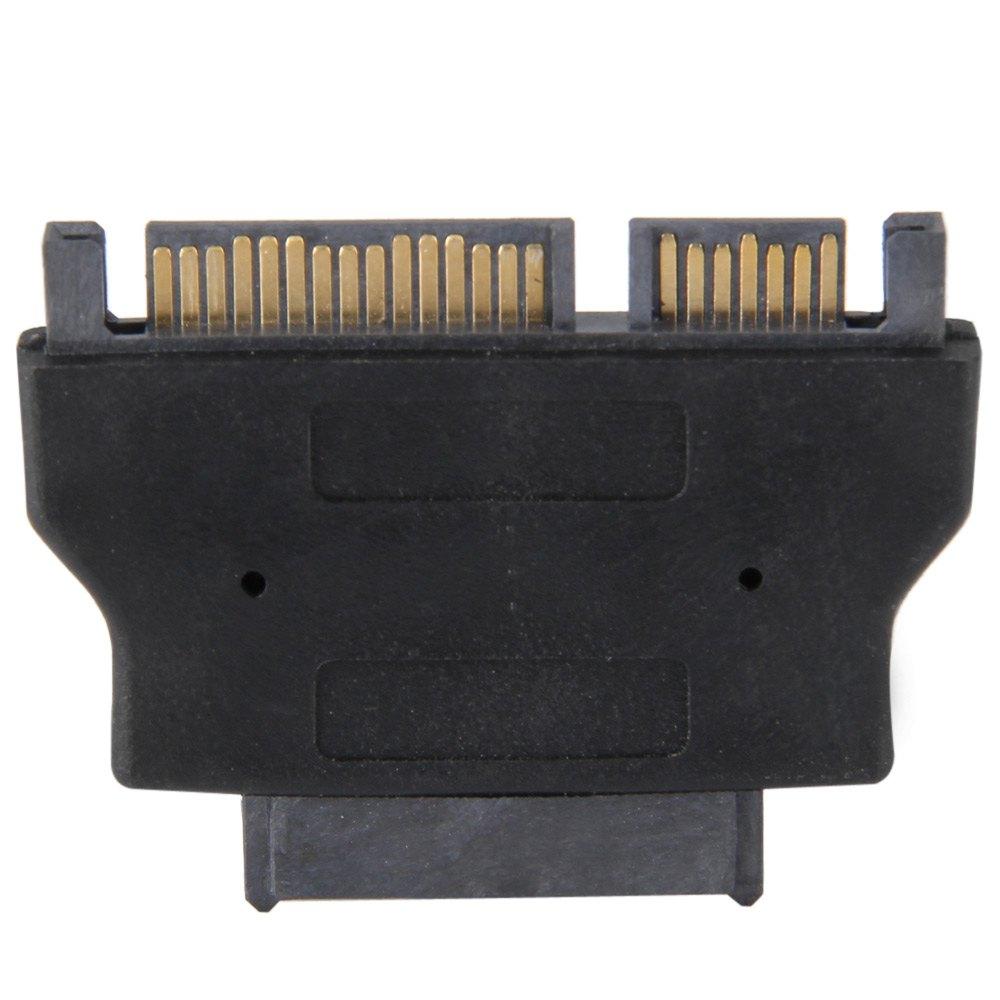 High Quality Hot Selling CY SA-015 SATA 6 + 7 Pin to Micro SATA 7 + 15 Pin Adapter Module Compatible with SATA 22 pin HDD Black(China (Mainland))
