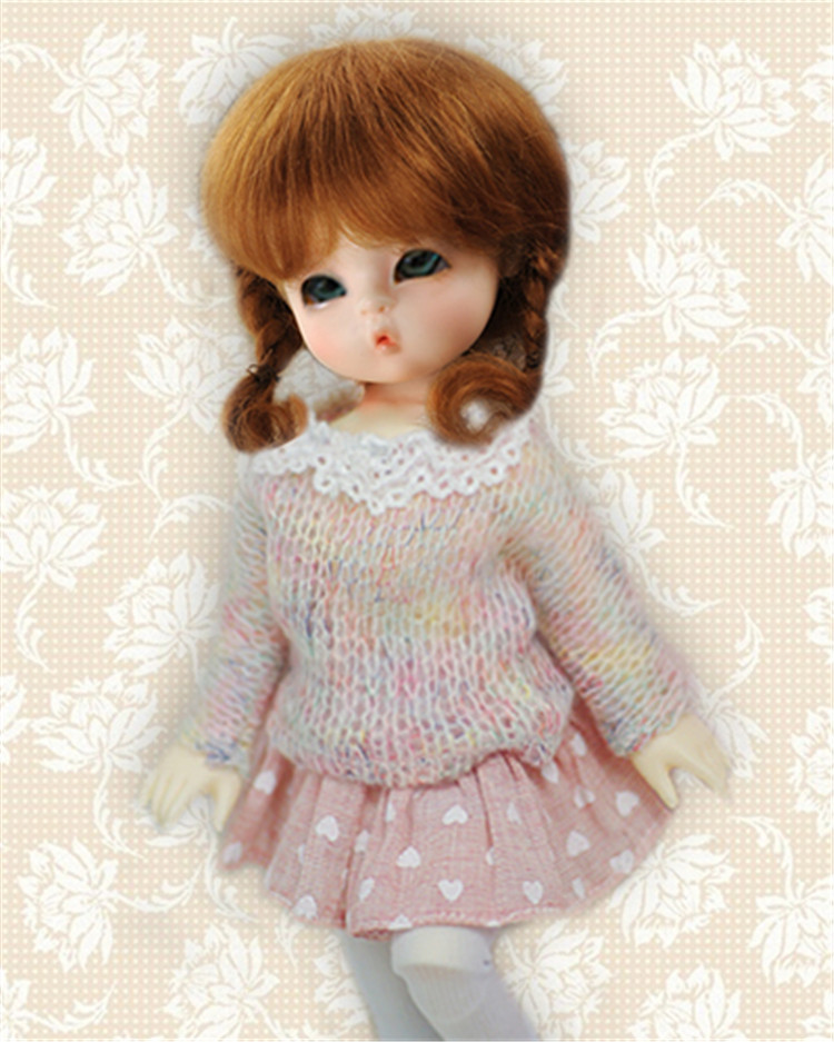 Wholesales----BJD wigs,tiny size mohair doll wig Shorter pony wig for 1/8 1/12 1/6 1/4 BJD doll Free shipping<br><br>Aliexpress